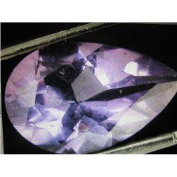 NaturalFaceted Pear Shape Amethyst Gemstone 5.16 ctw.