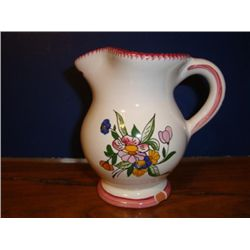 French milk pitcher jug signed by artist Renoleau