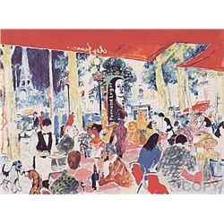 Chez Francis by Leroy Neiman 24x28 S/N Serigraph
