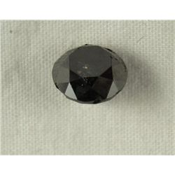 2.40 Carat Black Loose Diamond Opaque-A! Clarity