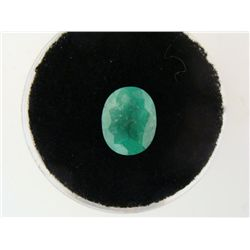 2.00 Carat Emerald Bright Glowing Green Gemstone
