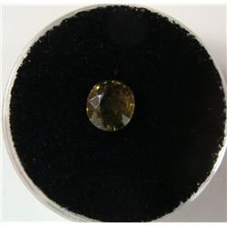 1.30 Carat Yellowish Green Garnet Gemstone