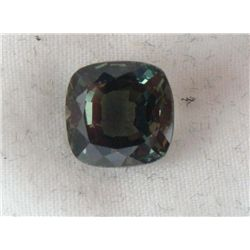4.84 CT TSAVORITE DARK GREEN CUSHION GEMSTONE