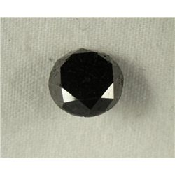 2.61 Carat Loose Black  Diamond Opaque-A! Clarity