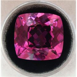 47.24 CT TOPAZ TOP AAA PINK CUSHION CUT GEMSTONE