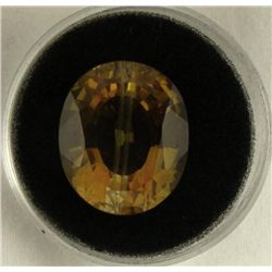 20.82 CT CITRINE YELLOW ROUND GEMSTONE