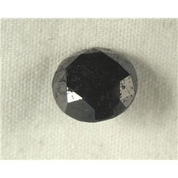2.63 Carat Loose Black Diamond Opaque-A! Clarity