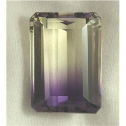 27.29 CT AMETRINE PURPLE YELLOW EMERALD GEMSTONE