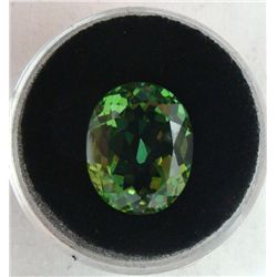 14.57 CT KUNZITE GREEN OVAL GEMSTONE