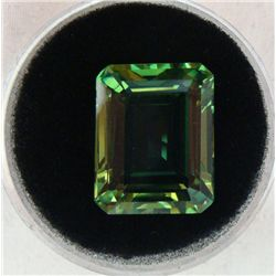 18.54 CT KUNZITE GREEN OCTAGON GEMSTONE