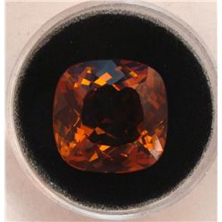 21.76 CT CITRINE TOP ORANGE ANTIQUE CUT GEMSTONE