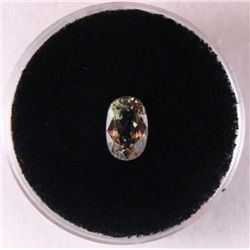 1.36 CT ALEXANDRITE GREEN-ORANGE OVAL GEMSTONE