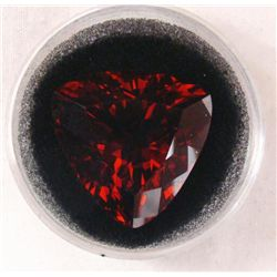 33.34 CT CITRINE ORANGE RED TRILLION GEMSTONE