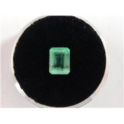 1.54 Carat Bright Glowing Green Emerald Gemstone