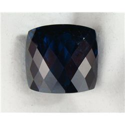 100 CT TOPAZ LONDON BLUE CUSHION CHECKER BOARD GEMSTONE
