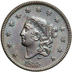 1835 N-1 R1 Head of 1834 with Large 8 & Stars MS60+
