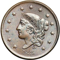1835 N-14 R2 Head of 1836 MS63