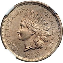 1859 Indian Head 1C NGC MS63