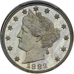 1883 Liberty 5C. With CENTS
