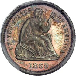 1869 Liberty Seated H10C