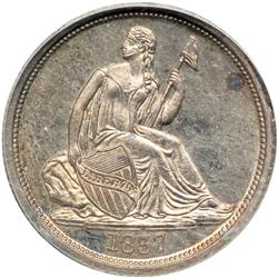 1837 Liberty Seated 10C. Lg Date