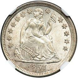 1857-O Liberty Seated 10C NGC MS67