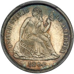 1862 Liberty Seated 10C