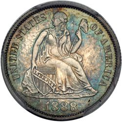1888 Liberty Seated 10C