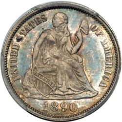 1890 Liberty Seated 10C