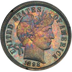 1898 Barber 10C PCGS Proof 63