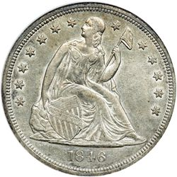 1846 Liberty Seated $1 NGC AU58