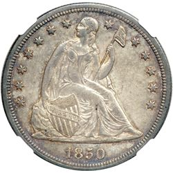 1850-O Liberty Seated $1 NGC AU58