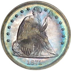 1871 Liberty Seated $1