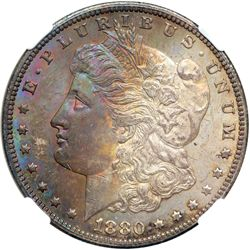 1880-CC Morgan $1. Rev of 1878 NGC MS63