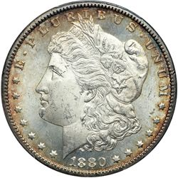 1880-CC Morgan $1. 8 Over Low 7. Rev of 1879