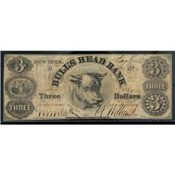 New York, NY - Bull's Head Bank Counterfeit. $3.00 May