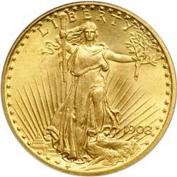 1908 $20 St. Gaudens. Motto