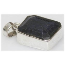 Natural 33.36 Ctw Sapphire Pendant .925 Sterling