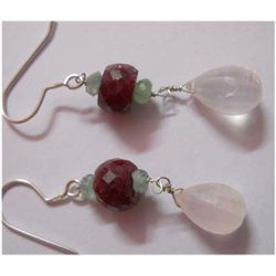 Natural 26.50 ctw Semi Precious Earring .925 Sterling