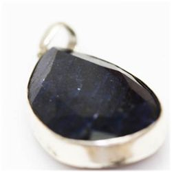 Natural 147.48 Ctw Sapphire Pendant .925 Sterling