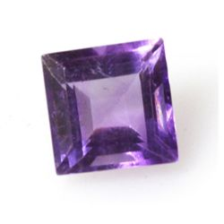 Natural 4.5ctw Amethyst Square 7-8mm (2) Stone