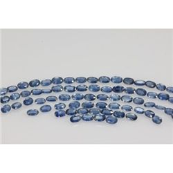 Natural Light Blue Sapphire Oval Cut 60 pcs 16.93 ctw