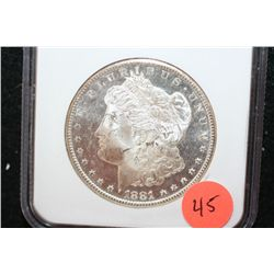 1881-S Silver Morgan $1; NGC Graded MS63 DPL
