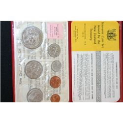 1972 New Zealand Mint Coin Set, UNC; Royal Australian Mint