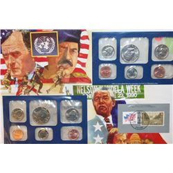 1990 US Mint Coin Set Commerating Operation Desert Shield begins W/Postal Stamps; P&amp;D Mints, UNC