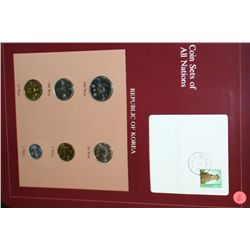 Republic of Korea; Coin Sets of All Nations W/Postal Stamp Dated 1983