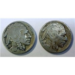 2 pcs D mint Buffalo Nickels