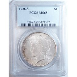 1926-S Peace Dollar  PCGS MS-65