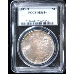 1883-O MORGAN SILVER DOLLAR, PCGS MS64+