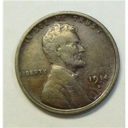 1914D Lincoln penny   F/VF
